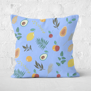 Earth Friendly Leaves And Fruit Square Cushion