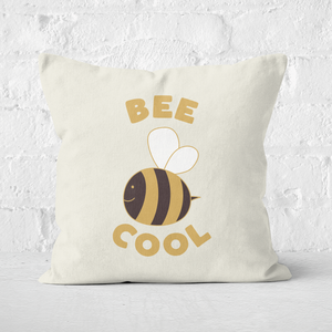 Earth Friendly Bee Cool Square Cushion