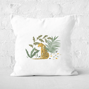 Pressed Flowers Silently Waiting Square Cushion