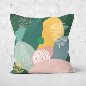 Earth Friendly Pastel Garden Square Cushion
