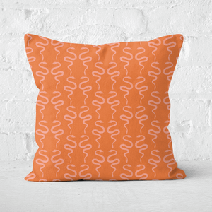 Earth Friendly Snakes Square Cushion