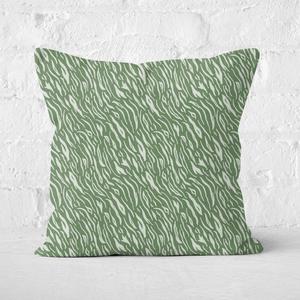 Earth Friendly Animal Print Square Cushion