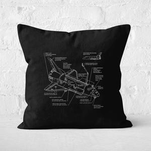 Shuttle Schematic Square Cushion