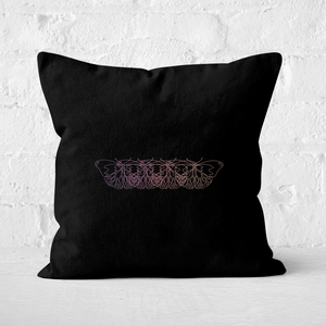 Pressed Flowers Butterfly Movement Square Cushion