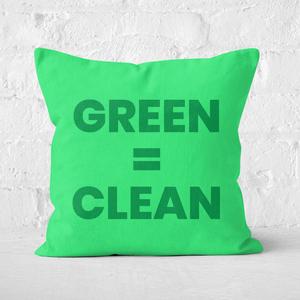 Earth Friendly Green = Clean Square Cushion
