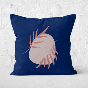 Pressed Flowers Leaves And Rocks Square Cushion