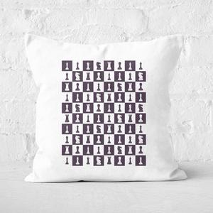 Chess Board Repeat Pattern Monochrome Square Cushion