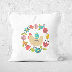 Pressed Flowers Easter Delivery Square Cushion