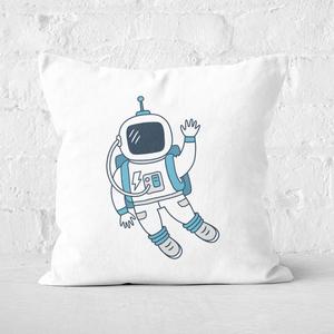 Astronaut Waving Square Cushion