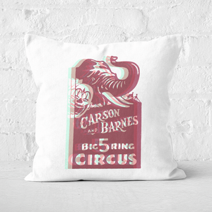 Pressed Flowers Carson And Barnes Big Five Ring Circus Square Cushion