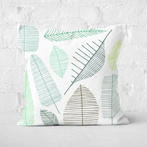 Earth Friendly Mixed Leaves Square Cushion