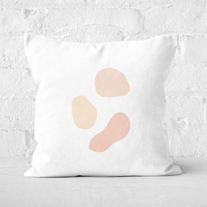 Pressed Flowers Abstract Spots Square Cushion