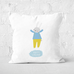 Pressed Flowers Easter Cheers Square Cushion