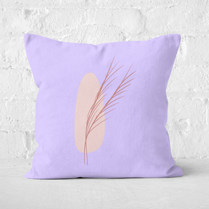 Pressed Flowers Abstract Leaf Square Cushion