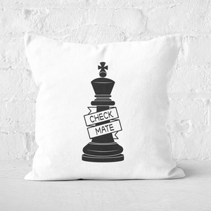 King Chess Piece Check Mate Square Cushion