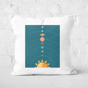 Pressed Flowers Planetary Alignment Square Cushion