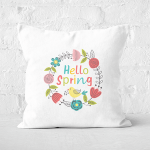 Pressed Flowers Spring Reef Square Cushion