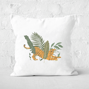 Pressed Flowers Afternoon Nap Square Cushion