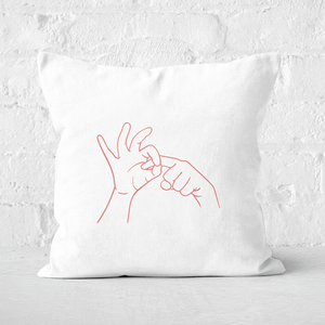 Sexy Hand Gesture Square Cushion