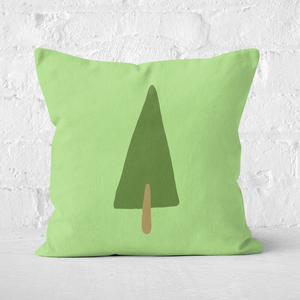 Earth Friendly Pine Tree Square Cushion