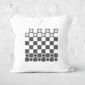Playing Checkers Board Square Cushion