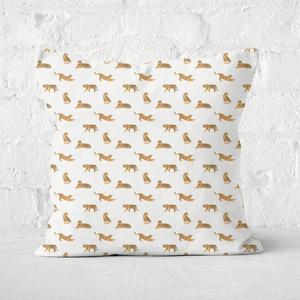 Earth Friendly Cheetahs Square Cushion