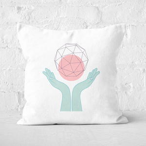 Pressed Flowers Enlightenment Square Cushion