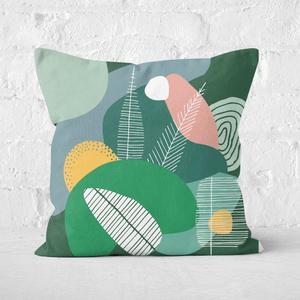 Earth Friendly Deep Earth Tones Square Cushion