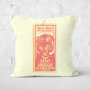 Pressed Flowers Great American Circus Square Cushion
