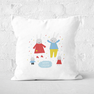 Pressed Flowers Easter Party Square Cushion