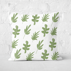 Earth Friendly Multi Leaves Square Cushion