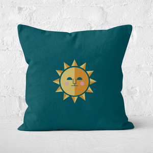 Pressed Flowers The Sun Square Cushion