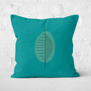 Earth Friendly Abstract Leaf Square Cushion