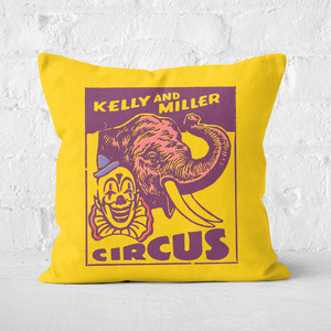 Pressed Flowers Kelly And Miller Circus Square Cushion