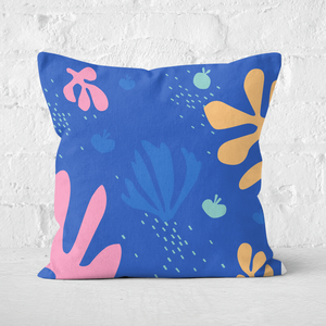 Pressed Flowers Under The Sea Print Square Cushion