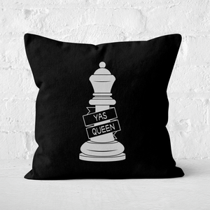 Queen Chess Piece Yas Queen Square Cushion