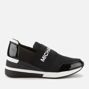 MICHAEL Michael Kors Women's Felix Slip-On Running Style Trainers - Black