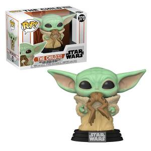 Star Wars The Mandalorian The Child (Baby Yoda) mit Frosch Pop! Vinyl Figur