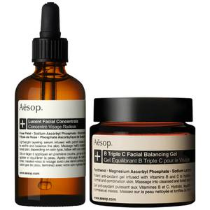 Aesop Lucent Concentrate and Triple C Balancing Gel Duo (Worth £170.00)