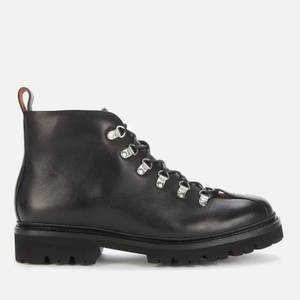 Grenson Men's Bobby Leather Hiking Style Boots - Black