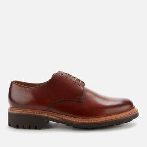 Grenson Men's Curt Hand Painted Leather Derby Shoes - Tan