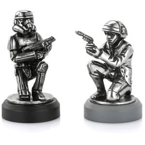 Piezas de ajedrez Soldado rebelde & Soldado de asalto Star Wars (Peón) - Royal Selangor