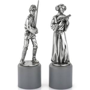 Royal Selangor Star Wars Pewter Chesspieces - Luke and Leia (King/Queen)