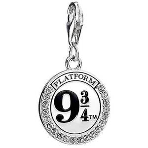 Harry Potter Sterling Silver Platform 9 3/4 Necklace Embellished with Swarovski Crystals