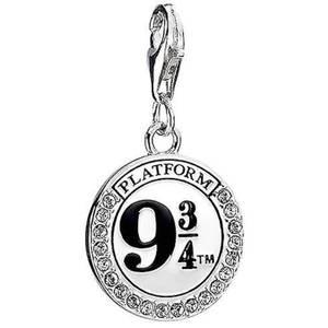 Collier plate-forme 9 3/4  en argent sterling agrémenté de cristaux Swarovski Harry Potter