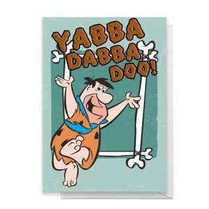 Flintstones Yabba Dabba Do Greetings Card