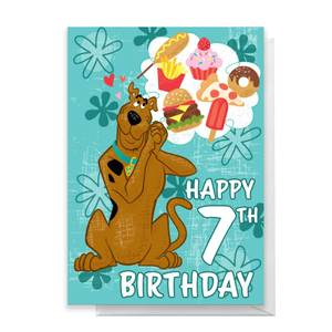 Scooby Doo 7th Birthday Greetings Card