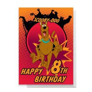 Scooby Doo 8th Birthday Greetings Card
