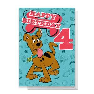 Scooby Doo 4th Birthday Greetings Card