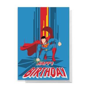 Superman Happy Birthday Greetings Card